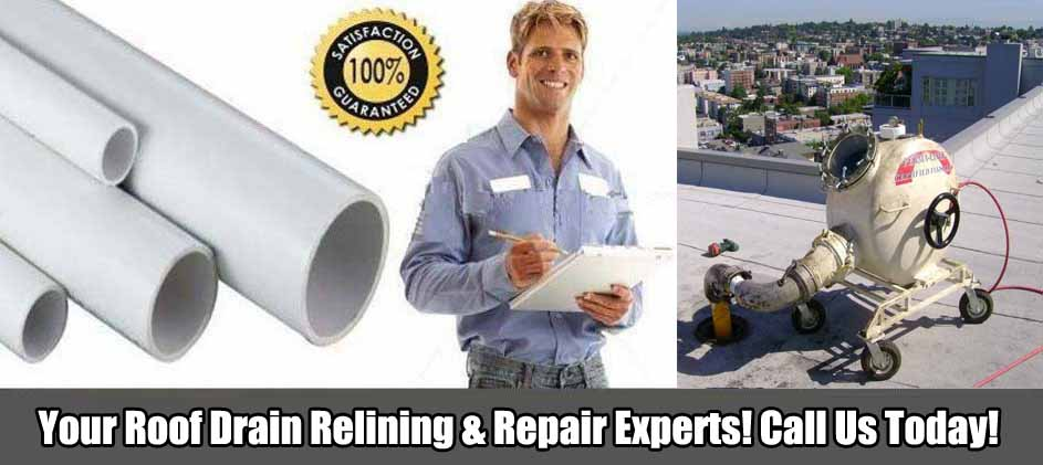 Blue Works, Inc. Roof Drain Relining